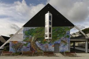 Fresque géante de la bibliothèque de Villers-Saint-Paul, réalisée en 2013 par Sophie Lucas-Faytre.