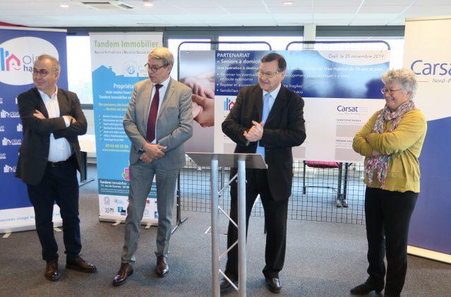 Oise Habitat, la Carsat Hauts-de-France et Tandem Immobilier officialisent leur partenariat